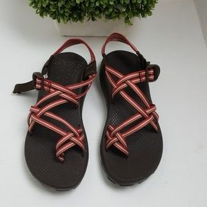 Chaco ZX2 Vibram Unaweep womens multi red straps